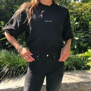Yves Saint Laurent (YSL) Designer Black T-Shirt